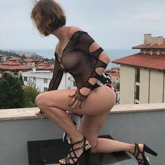 Обнажённая Наталья Штурм в прозрачном белье позирует для Instagram фото #1