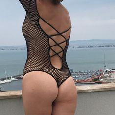 Обнажённая Наталья Штурм в прозрачном белье позирует для Instagram фото #5