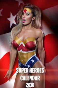 Обнажённая Карина Зверева с ярким бодиартом в Super Heroes Calendar фото #2