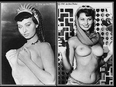 Горячая Софи Лорен оголила грудь под водой в фильме Two Nights with Cleopatra фото #3