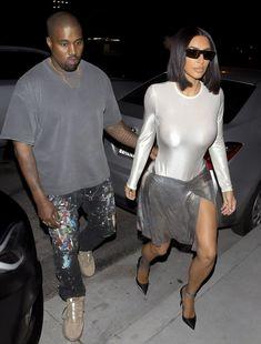 Пышногрудая Ким Кардашьян без лифчика на свидании фото #5