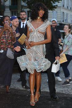 Горячая Наоми Кэмпбелл в прозрачном наряде на вечеринке Vogue в Париже фото #3