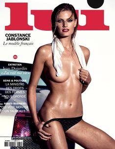 Красотка Констанс Яблонски оголила грудь и попу в журнале Lui фото #1