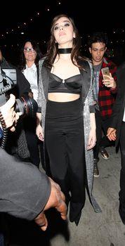 Торчащие соски Хейли Стайнфелд в откровенном наряде на Grammy After Party фото #5