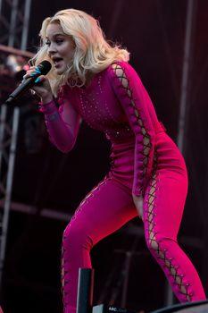 Зара Ларссон засветила сосок на фестивале Bravalla в Швеции фото #3