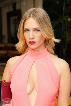 Шикарная грудь Дженьюэри Джонс в сексуальном наряде на Vogue Fashion Fund Party фото #1