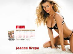 Заманчивая Джоанна Крупа для календаря FHM фото #3