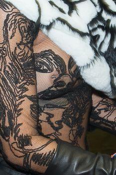 Рианна засветила сосок на Jean Paul Gaultier Fashion Show фото #6