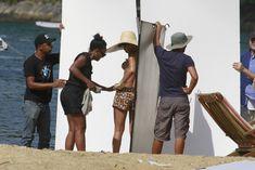 Голая грудь Рианны на фотосессии в Рио фото #11