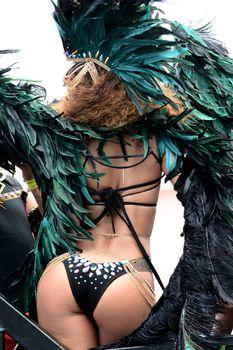 Развратная Рианна на карнавале в Барбадосе фото #12