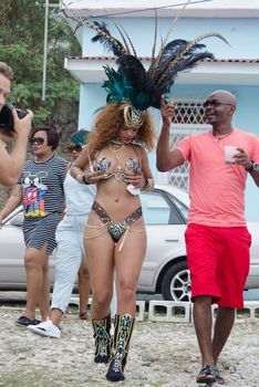 Развратная Рианна на карнавале в Барбадосе фото #13
