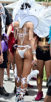 Рианна в откровенном наряде на карнавале в Барбадосе фото #6