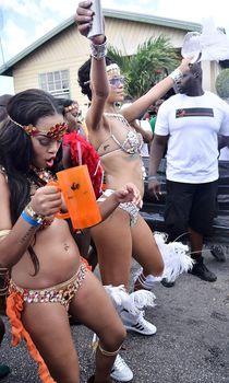 Рианна в откровенном наряде на карнавале в Барбадосе фото #15