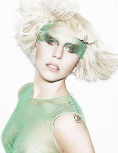 Изящная Леди Гага в фотосессии для журнала Elle фото #1