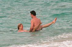 Голая грудь Камерон Диаз на пляже Сен-Барте фото #3