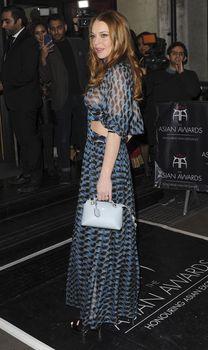 Линдси Лохан в прозрачном платье на премии The Asian Awards фото #14