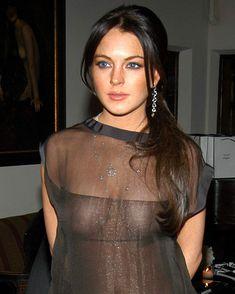 Линдси Лохан без бюстгальтера на ужине Les Exclusifs de Chanel фото #5