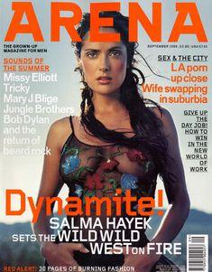 Сальма Хайек без бюстгальтера в журнале Arena фото #1