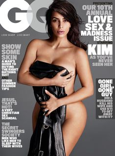 Ким Кардашьян голышом в журнале GQ фото #1