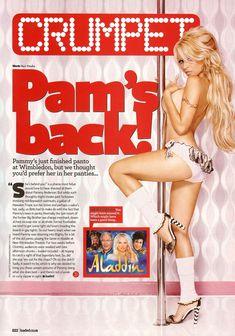 Памела Андерсон топлесс возле шеста в журнале Loaded фото #1