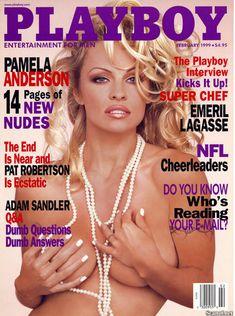 Полностью голая Памела Андерсон в журнале Playboy фото #1