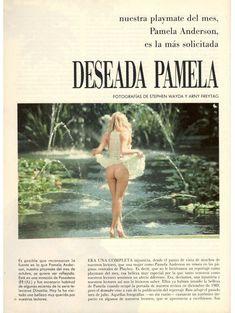 Молодая и голая Памела Андерсон в журнале Playboy фото #2