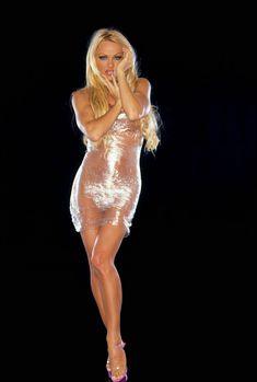 Голое тело Памелы Андерсон обмотанное пленкой фото #2