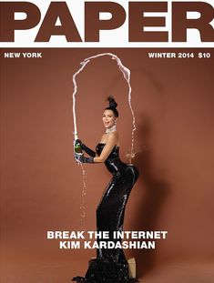 Ким Кардашьян снялась голой для журнала Paper фото #1