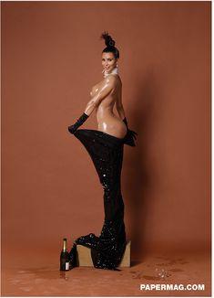 Ким Кардашьян снялась голой для журнала Paper фото #3