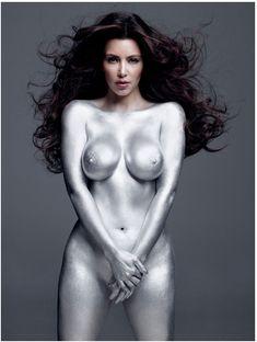 Обнаженное тело Ким Кардашьян в журнале W фото #3