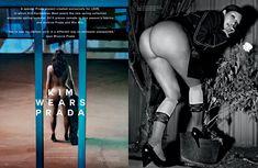 Полностью голая Ким Кардашьян в журнале Love фото #5