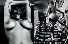 Полностью голая Ким Кардашьян в журнале Love фото #6