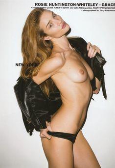Роузи Хантингтон-Уайтли обнажила грудь для журнала Purple фото #1