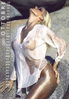 Обнаженная Виктория Сильвстедт в календаре фото #10