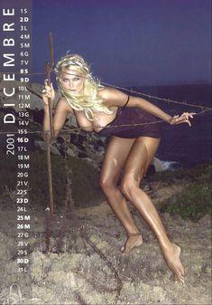 Обнаженная Виктория Сильвстедт в календаре фото #14