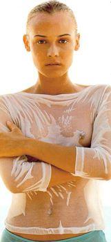 Дайан Крюгер показала сосок в журнал ELLE фото #1