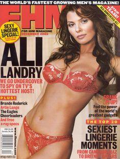 Возбуждающая Эли Ландрив сексуальном белье для журнала FHM фото #1