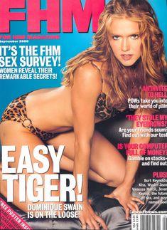 Эротичная Доминик Суэйн в фотосессии для журнала FHM фото #1