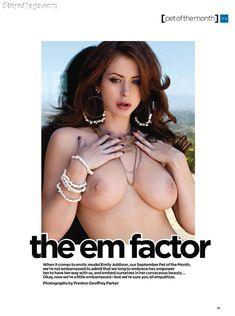 Полностью голая Эмили Эддисон снялась в журнале Penthouse фото #3