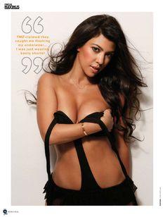 Эротическая Кортни Кардашян на фото в журнале Maxim фото #2