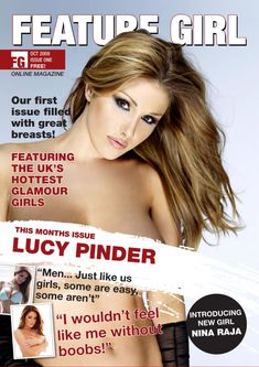 Шаловливая Люси Пиндер  в журнале Feature Girl фото #1