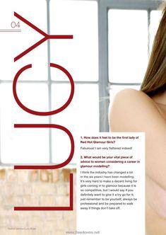 Шаловливая Люси Пиндер  в журнале Feature Girl фото #4