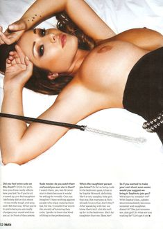 Люси Пиндер  в ню фотосессии для журнала Nuts фото #4