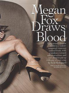 Возбуждающая Меган Фокс  в журнале Rolling Stone фото #3