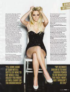 Красотка Тулиса Контоставлос в сексуальном наряде в журнале FHM фото #8