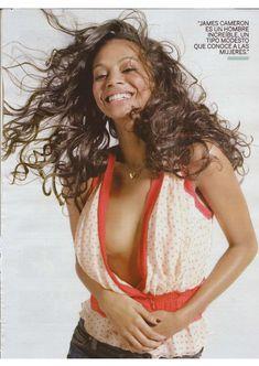 Секси Зои Салдана  в журнале Fotogramas фото #2