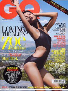 Эротичная Зои Салдана  в журнале GQ фото #1