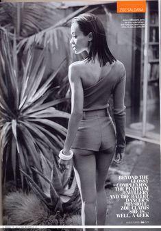 Эротичная Зои Салдана  в журнале GQ фото #3