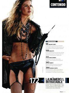 Брутальный образ Жизель Бюндхен в журнале DT фото #4