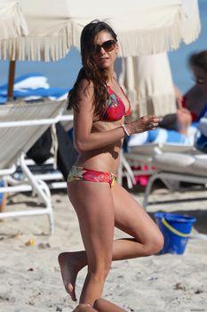 Аппетитная попка Нины Добрев в Майами фото #13